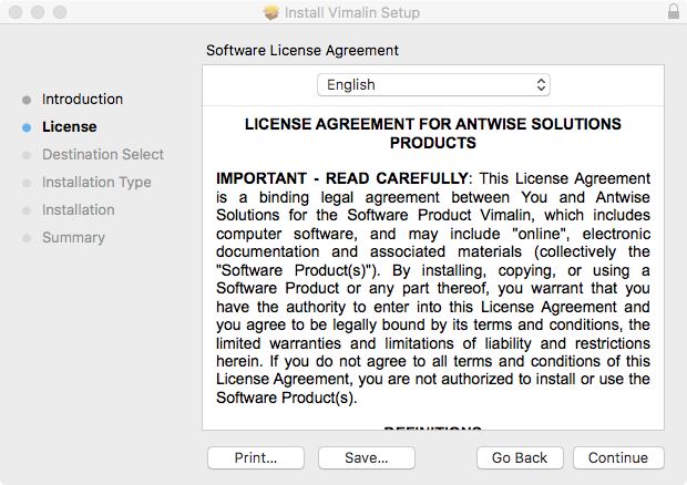 vimalin-install-licence-agreement